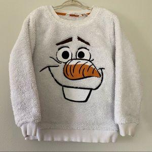 H&M Disney Olaf Frozen Fleece Sweater 4-6 years